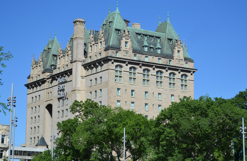 Exterior view of The Fort Garry Hotel.
