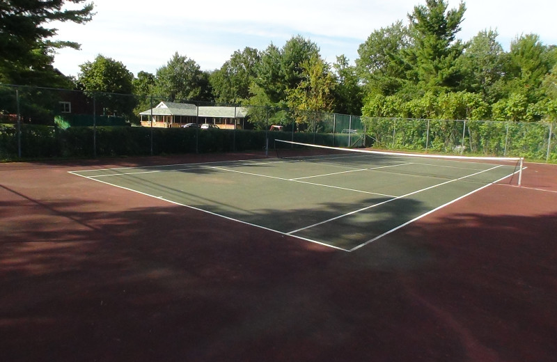 Tennis court at Crystal Brook Resort.