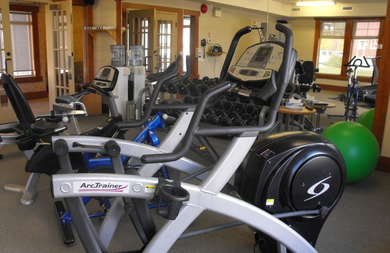 Fitness room at St. Eugene Golf Resort & Casino.