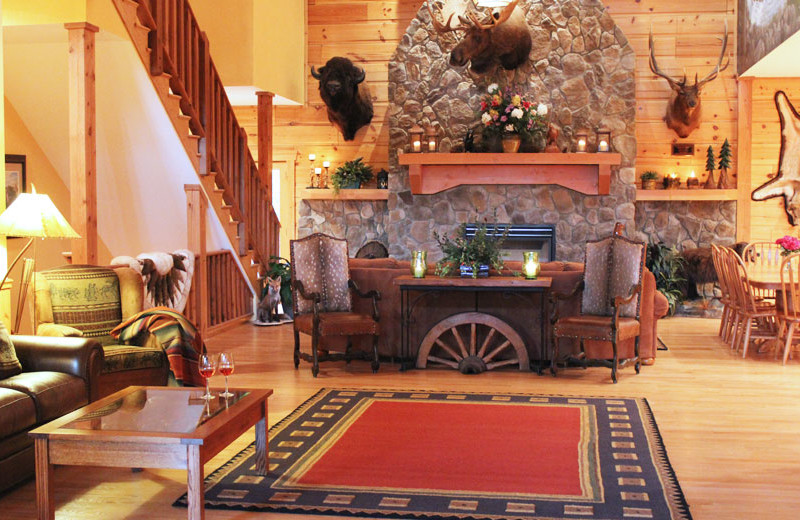 Fireplace at House Mountain Inn.