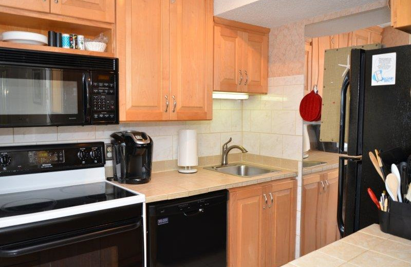 Rental kitchen at Dolphin Run Condominium Association. Inc.