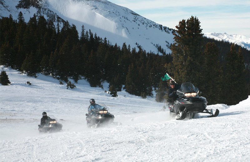 Snowmobiling at Beaver Run Resort & Conference Center.