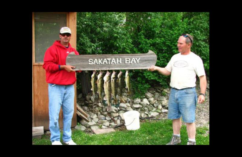 Fishing at Sakatah Bay Resort Motel.