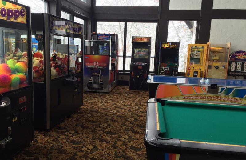 Arcade at Cragun's Resort and Hotel on Gull Lake.