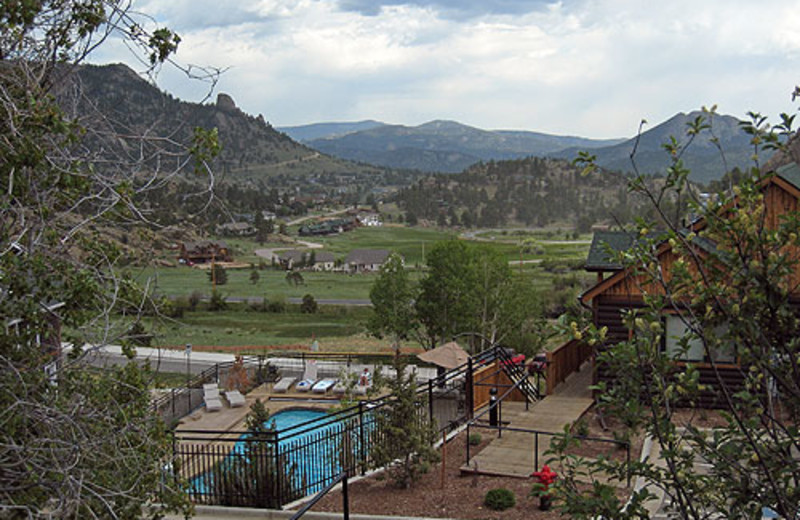 Outdoor pool at Marys Lake Vacation Condos.