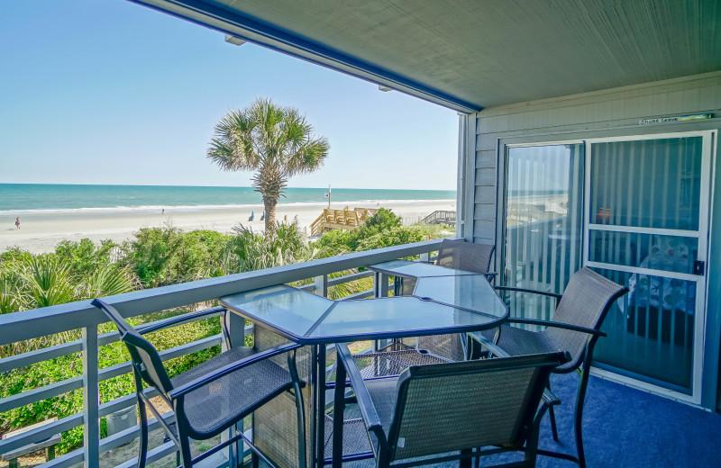 Rental balcony at Sea Star Realty.