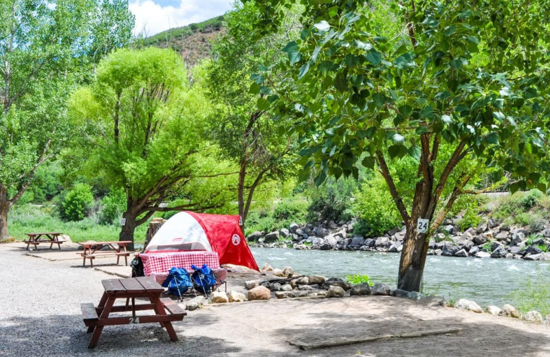 Campsite at Glenwood Canyon Resort.