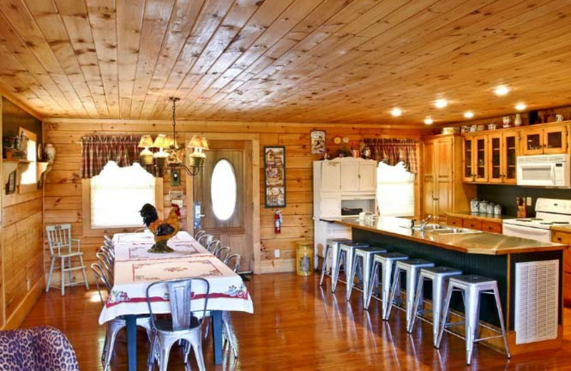Kitchen And Dining Room at Hidden Mountain Resorts