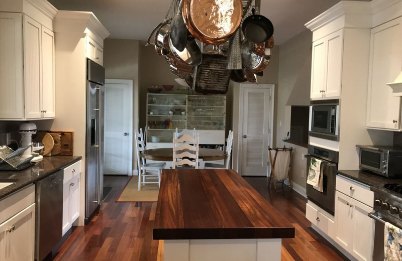 Rental kitchen at Jersey Cape Realty
