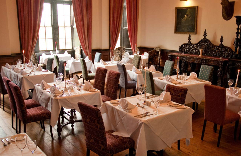 Dining at Kinnitty Castle.
