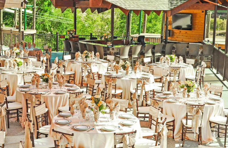 Reception at Glenwood Canyon Resort.