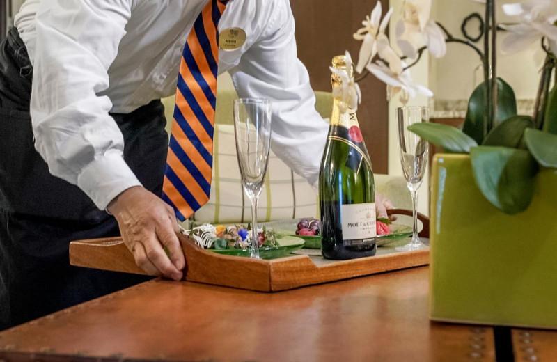 Room service at Boar's Head Resort.