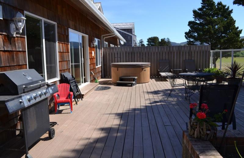 Rental patio at Beachhouse Vacation Rentals.