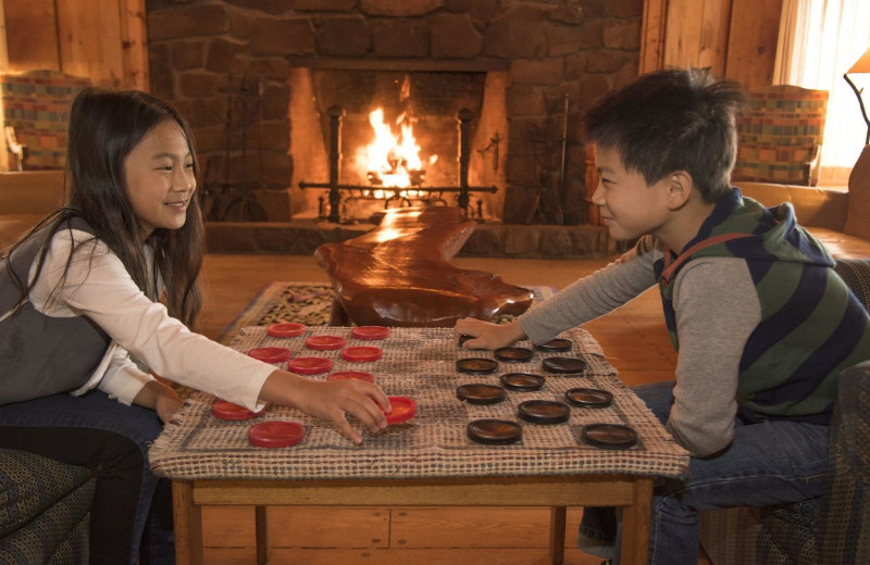 Checkers at Lutsen Resort on Lake Superior.