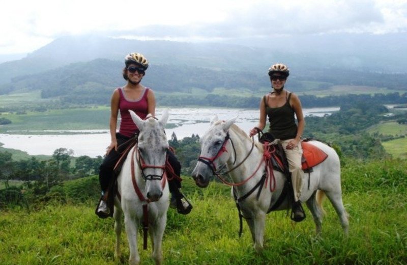 Horseback riding at Casa Turire.