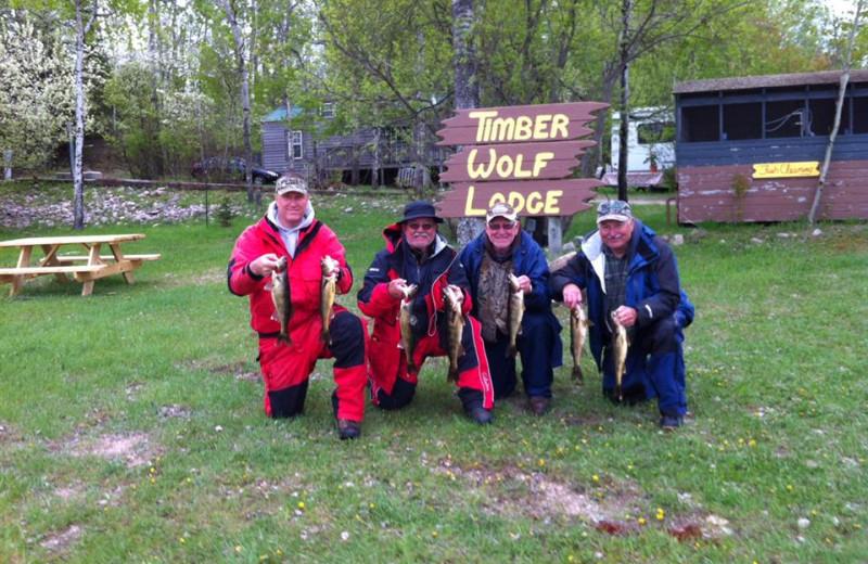 Fishing at Timber Wolf Lodge Cabins.