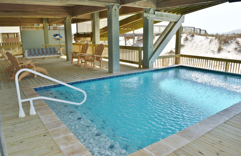 Rental pool at Gulf Shores Vacation Rentals.