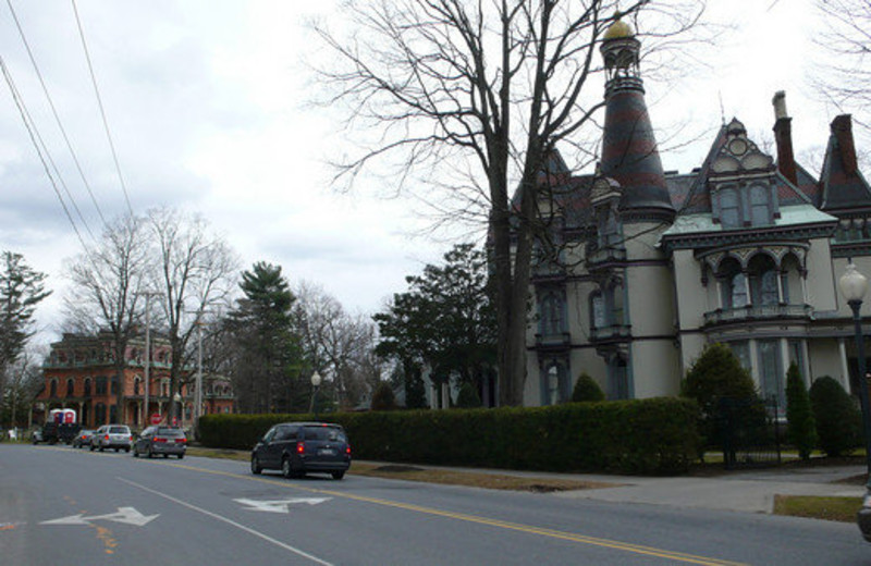Exterior view of Batcheller Mansion Inn Bed and Breakfast.