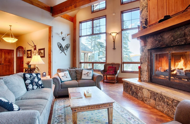Rental living room at Great Western Lodging.