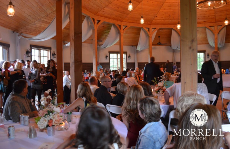 Meeting and wedding space at Morrell Ranch.