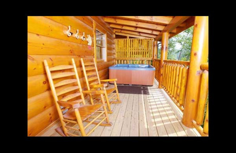Cabin deck at Eden Crest Vacation Rentals, Inc. - Bear Tracks Bungalow.