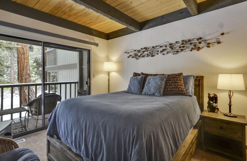 Rental bedroom at Stay in Lake Tahoe.
