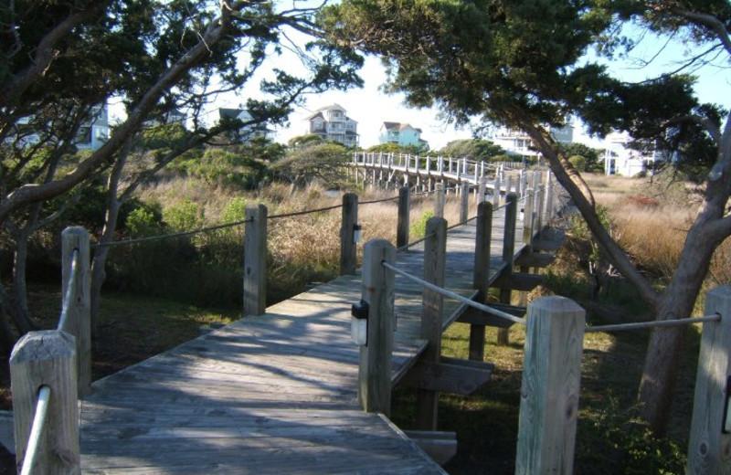 Private boardwalk at The Villas of Hatteras Landing.