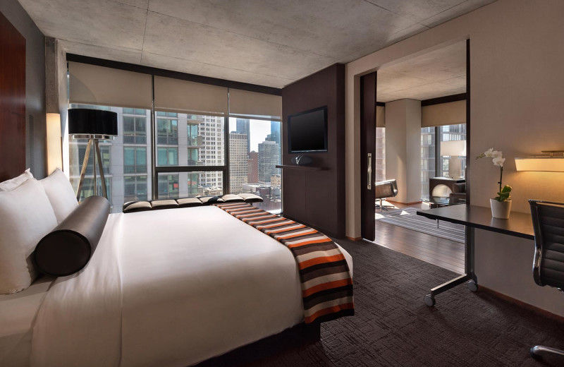 Guest room at Eurostars Magnificent Mile.