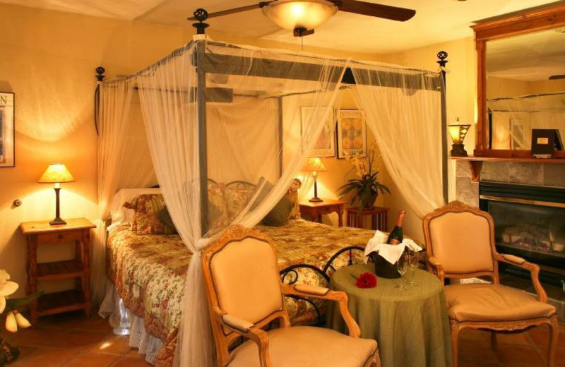 Guest room at Old World Inn.
