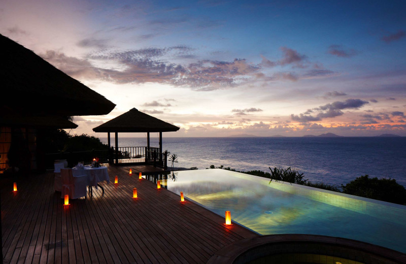Outdoor pool at Fregate Island.