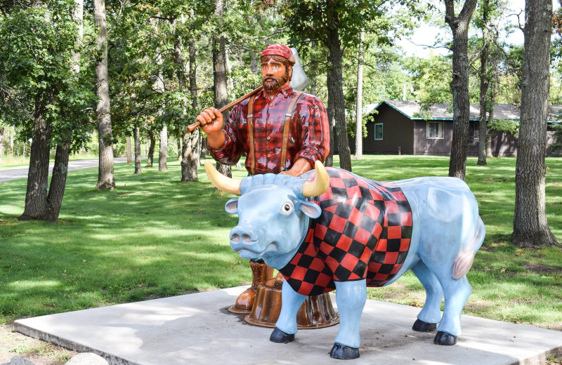 Paul Bunyan and Babe the Blue Ox at Cragun's Resort and Hotel on Gull Lake.