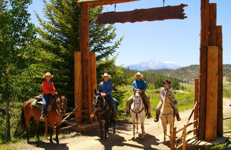 Riding at Elk Mountain Ranch.