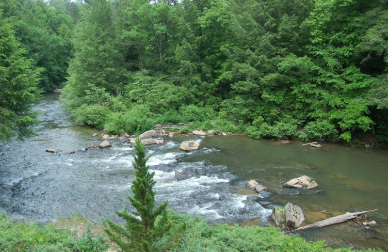 Ocoee River at Cuddle Up Cabin Rentals.