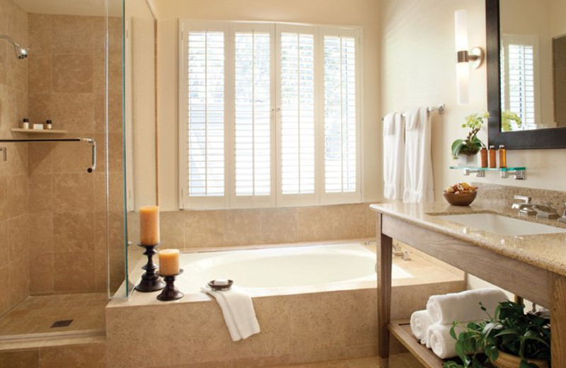 Bathroom With Separate Shower and Bath at Carmel Valley Ranch