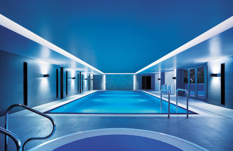 Indoor pool at Shangri-La Hotel, Sydney.