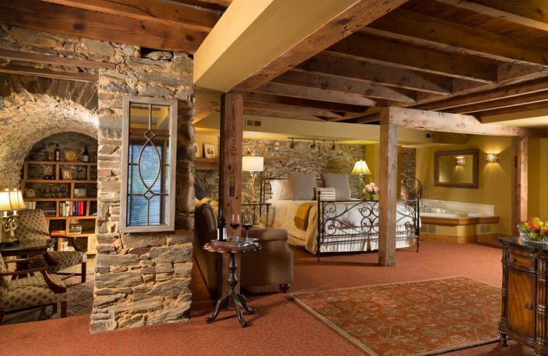 Guest room at The Inn at Leola Village.