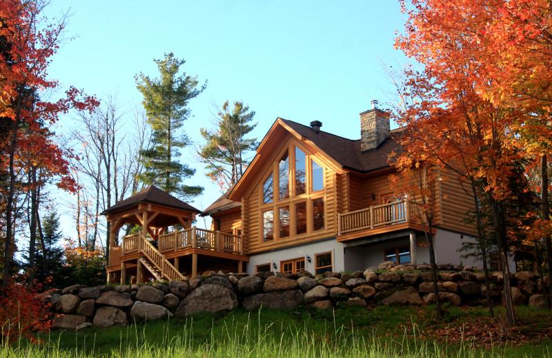 Cabin exterior at Fiddler Lake Resort.