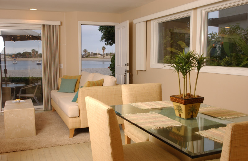 Rental living room at Beach and Bayside Vacations.