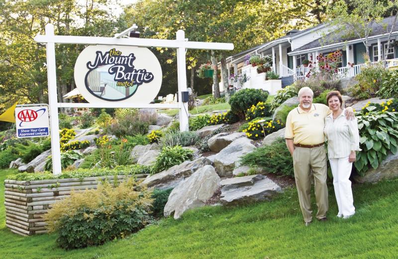 Front Garden at Mount Battie Motel.