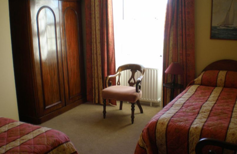 Guest room at Loughcarrig House.