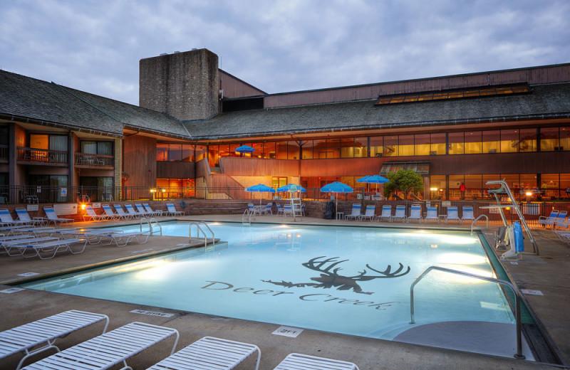 Outdoor pool at Deer Creek Lodge.
