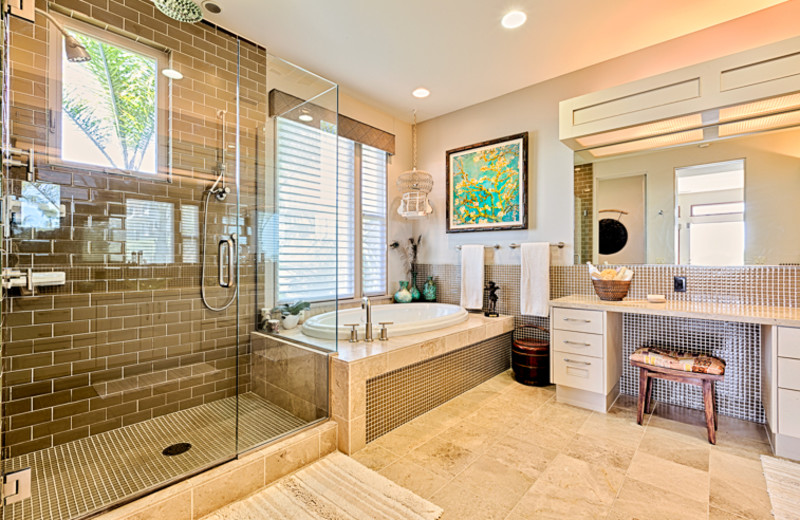 Rental bathroom at Seabreeze Vacation Rentals, LLC.