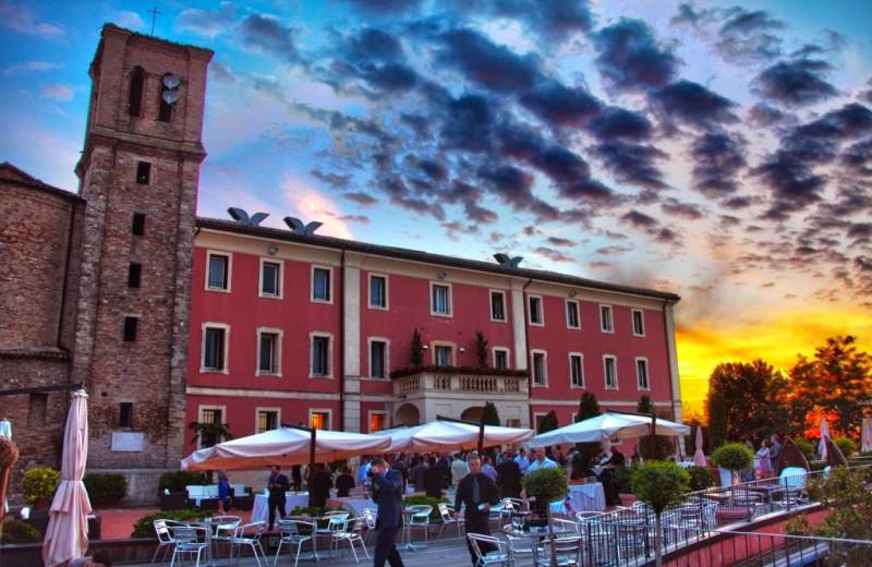 Patio at Hotel Monte del Re.
