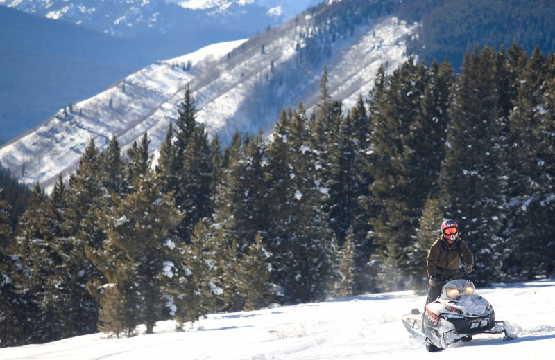 Snowmobiling at Aspen Canyon Ranch