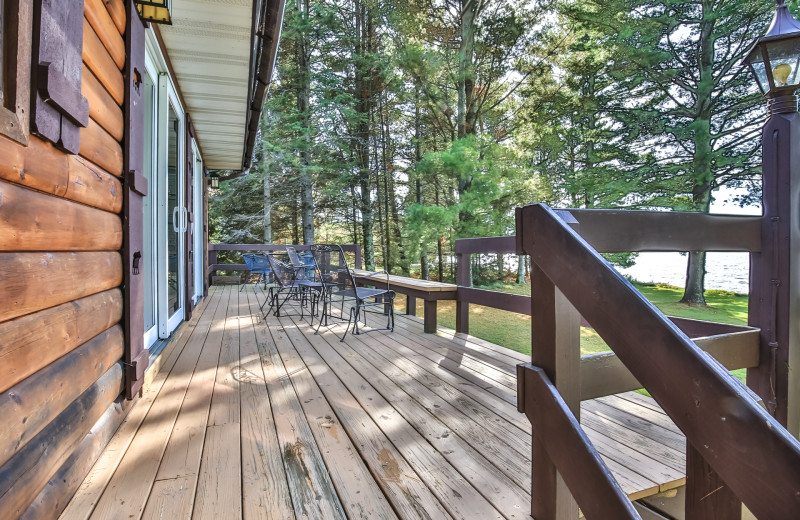 Rental deck at Hiller Vacation Homes.