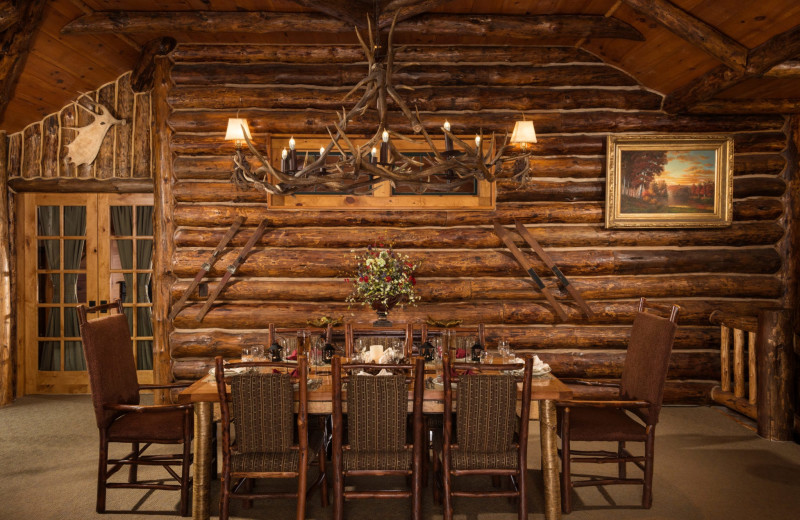 Guest dining room at The Whiteface Lodge.