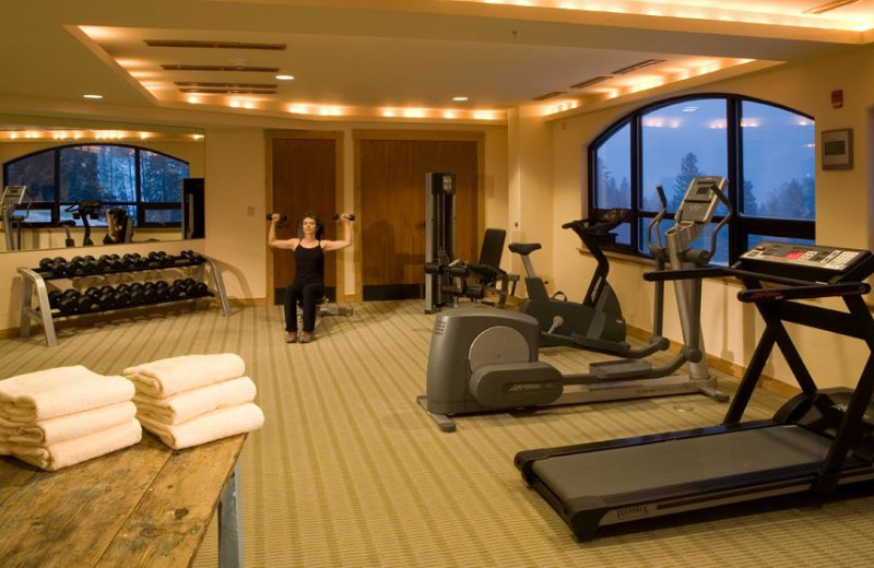 Fitness room at Edelweiss Lodge and Spa.