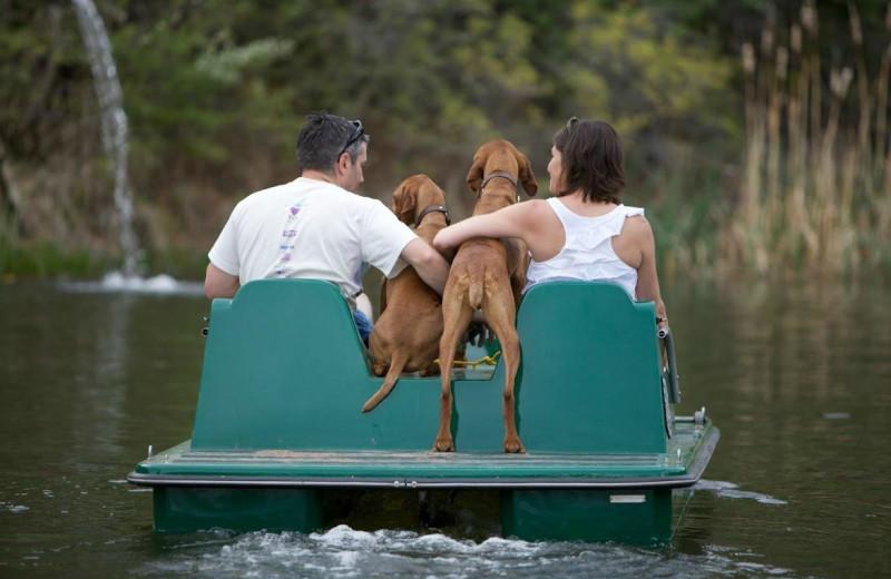 Paddle boat at Whispering Oaks Ranch.