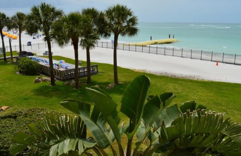 Beach view at Caprice Resort.