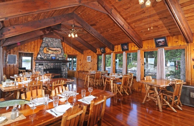 Dining Area at Duck Bay Lodge